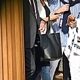 Meghan Markle Cuyana Bag With Her Initial