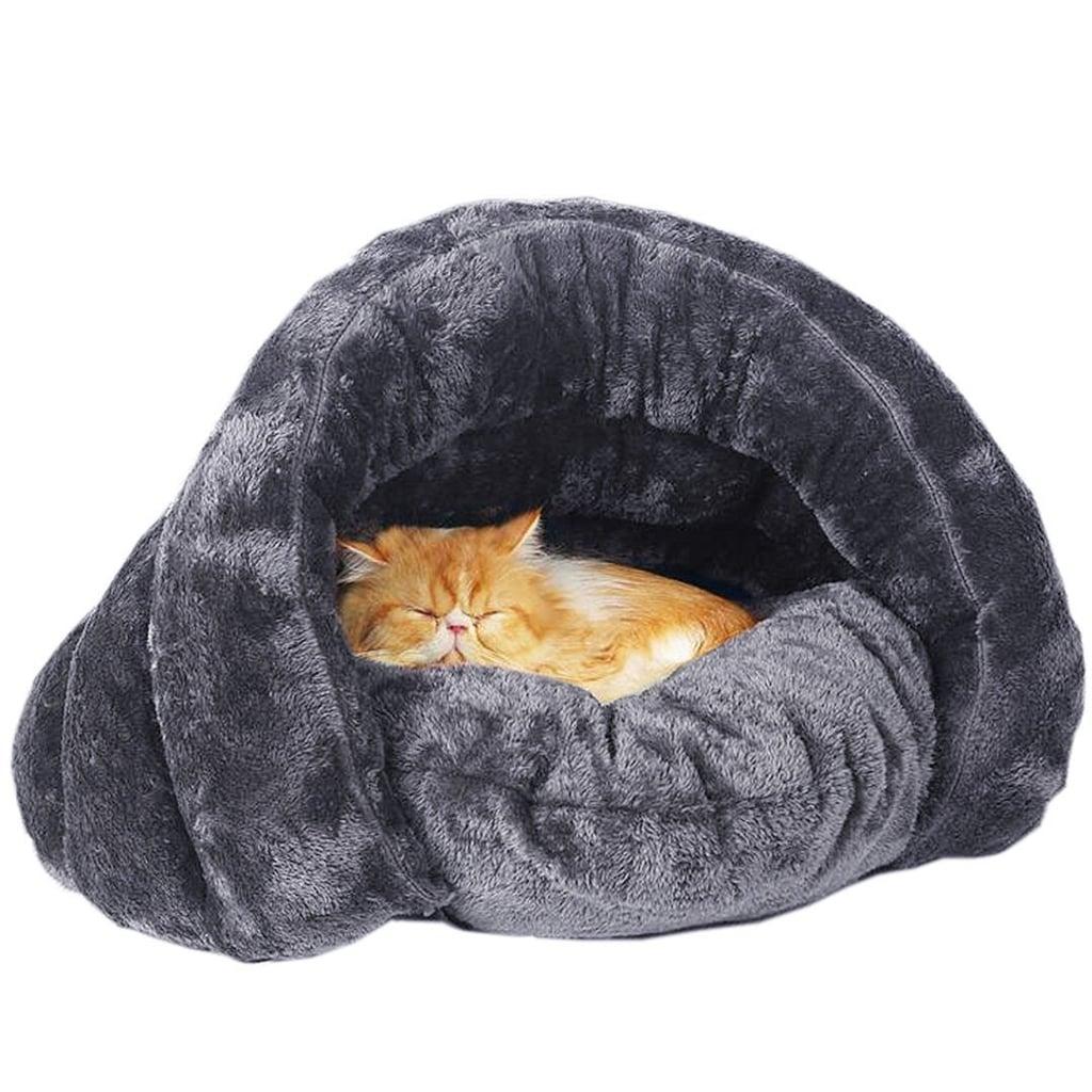 Plush Cat Sleep Bag Zone Pet Cave