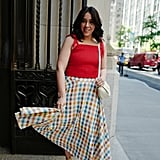 Show Off Your Curves In: A Cute Top and Playful Skirt