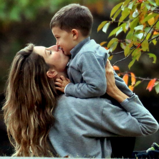 Cute Gisele Bundchen and Tom Brady Family Pictures in Boston