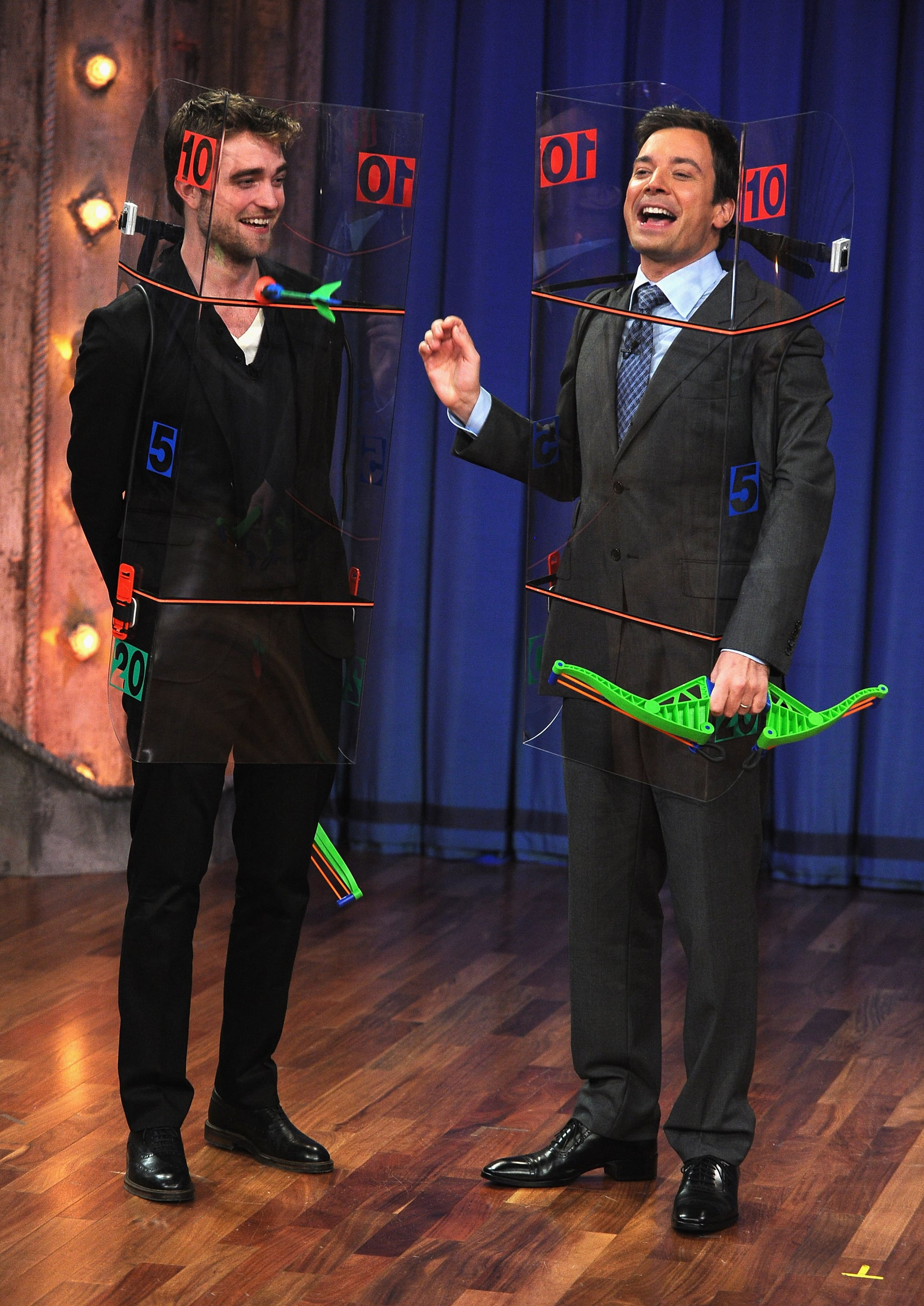 Jimmy and Rob wore silly outfits.
