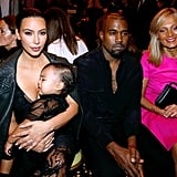 When He Sat Front Row at a Fashion Show With Kim and North