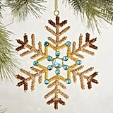 Beaded Snowflake Ornament ($7)
