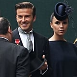 Victoria Beckham in a Philip Treacy hat