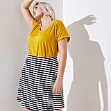 Loft Striped Wrap Skirt