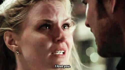 But not before confessing her true feelings for Hook.
