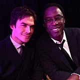 Isaiah Washington posed for a picture with Ian Somerhalder. Source: Twitter user IWashington