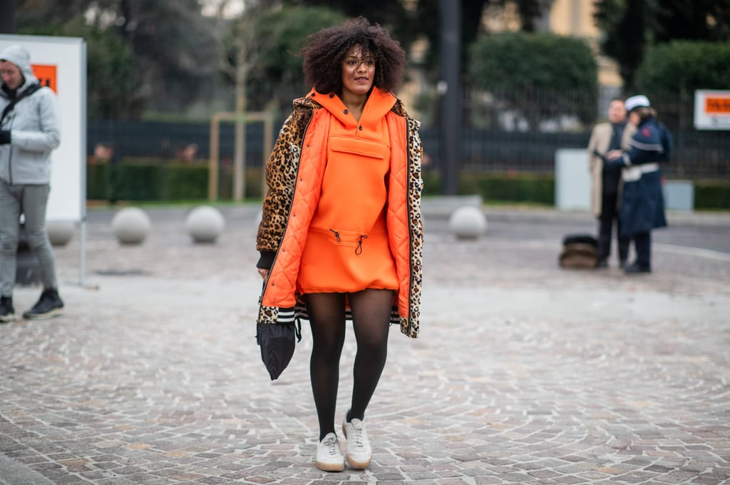 With Bold Orange and Leopard Print