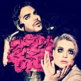 """Kelly Osbourne said she and Adam Lambert """"had so much fun pretending to shoot album covers"""" in their costumes."""