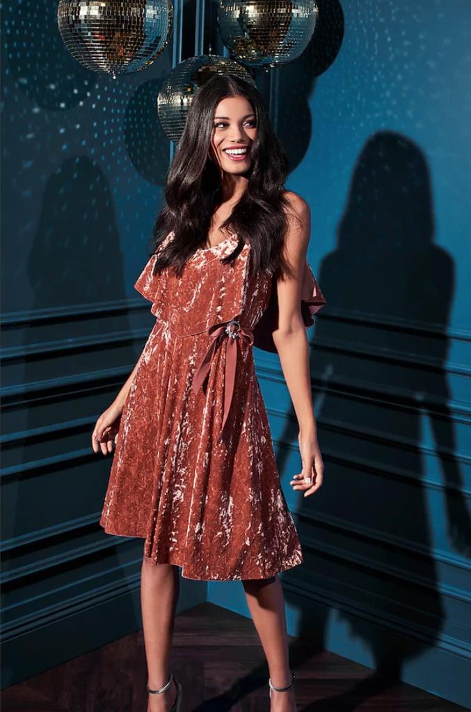 Lauren Conrad Runway Collection Velvet Popover Slip Dress