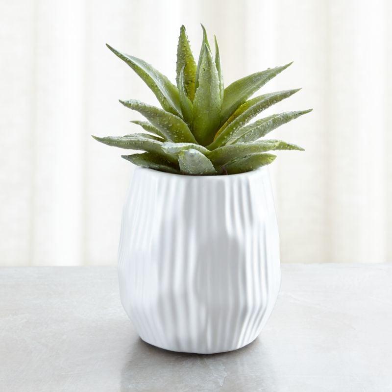 Celeste: Potted Faux Single Succulent Plant