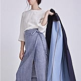 W Concept Placid Check Skirt
