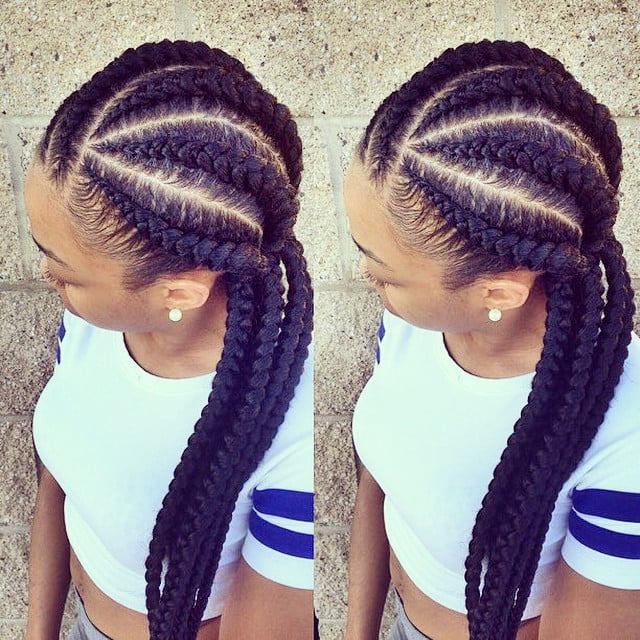 Sensational Black Braided Hairstyles With Extensions Popsugar Beauty Hairstyles For Men Maxibearus