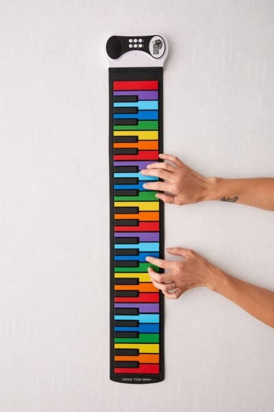 Rock And Roll It Rainbow Roll-Up Keyboard