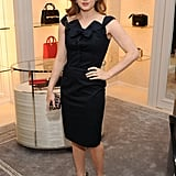 Amy Adams kept it classy in a bow-front Dior — very ladies who lunch.