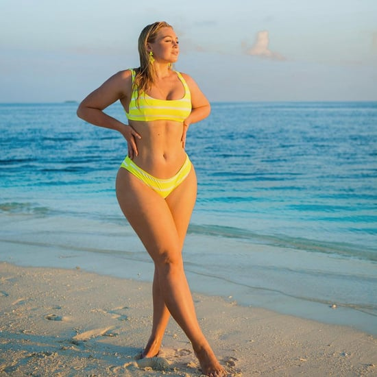 Iskra Lawrence's Neon Yellow Bikini April 2019