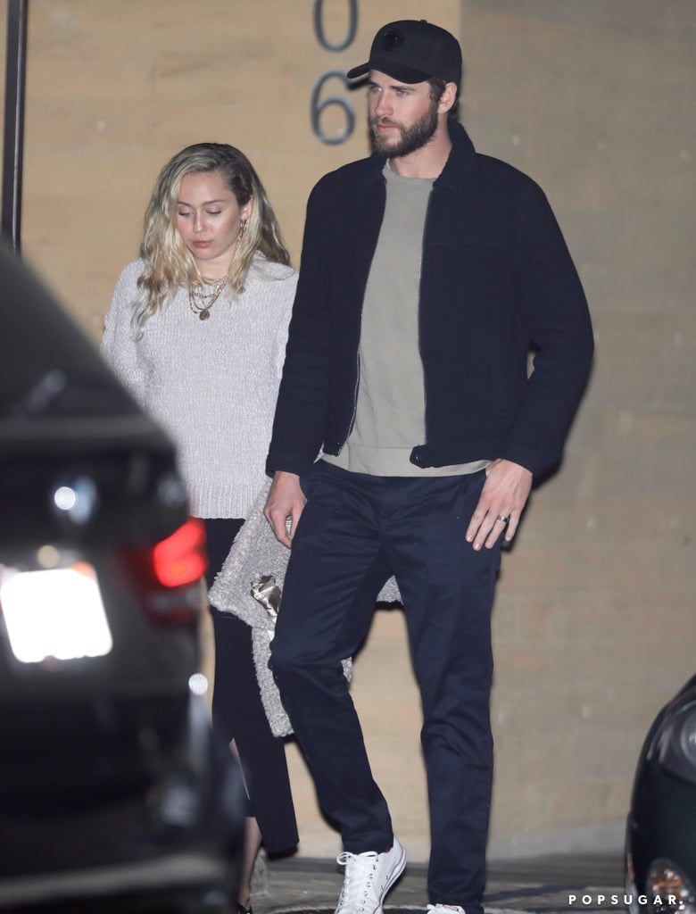 Miley Cyrus Gray Knit Sweater