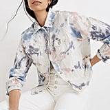 The Raglan Oversized Jean Jacket: Tie-Dyed Edition