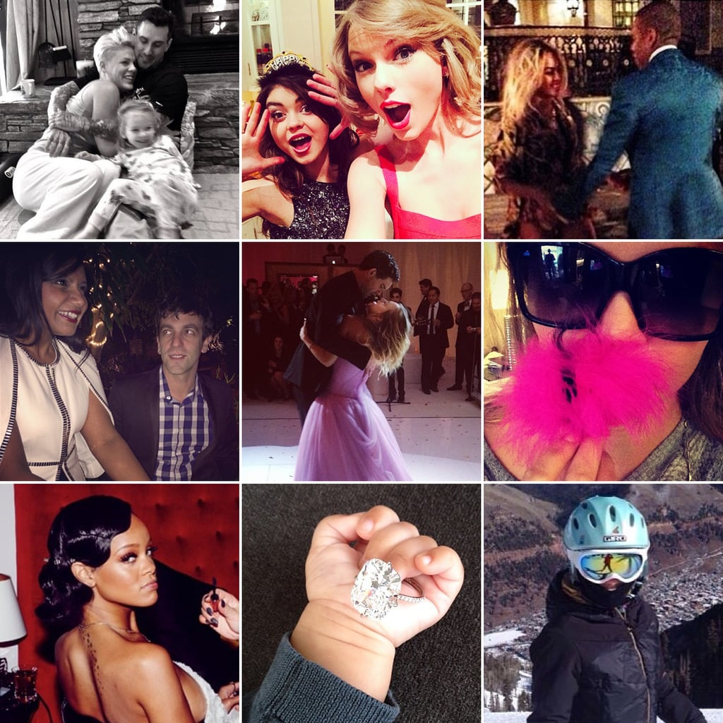 See How Celebrities Celebrated The New Year on Social Media