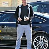 Liev Schreiber flashed his smile before a workout in LA on Saturday.