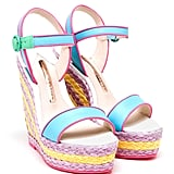 Sophia Webster Lucita Mixed Media Espadrille Wedge Sandals