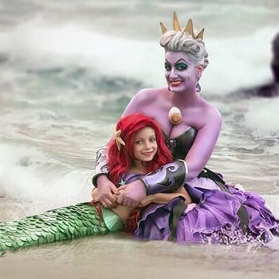 Mother-Daughter Disney Princess Cosplay