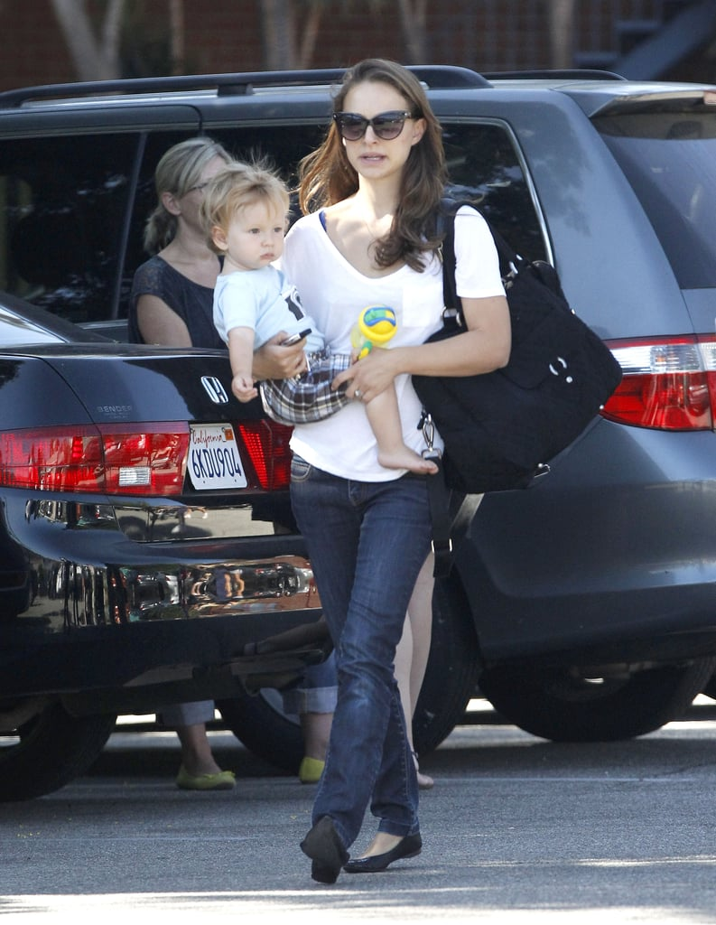 Natalie Portman spent some quality time with Aleph in LA.