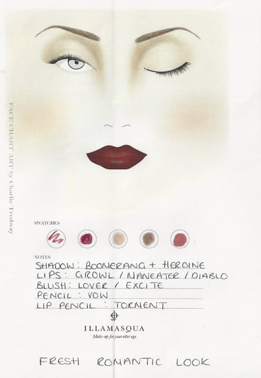 Look 1 Face Chart