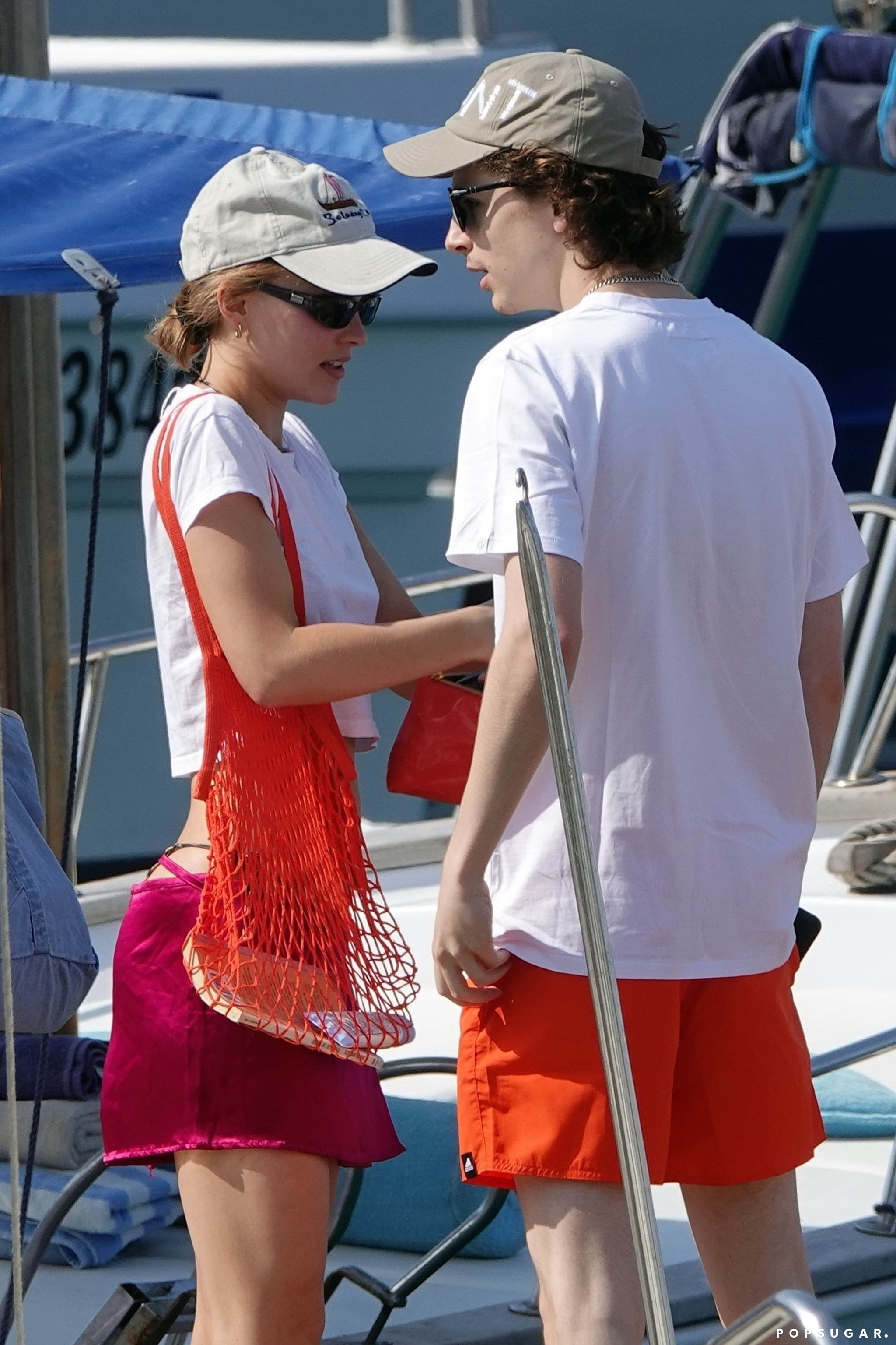 Timothee Chalamet And Lily Rose Depp Kiss On Boat Pictures Popsugar Celebrity