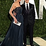 Katie Holmes dazzled in Elie Saab with Tom in a slick suit at her side.