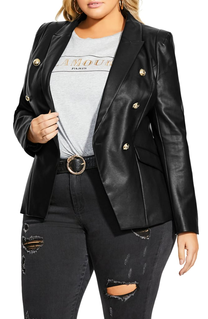 City Chic Royalty Faux Leather Jacket