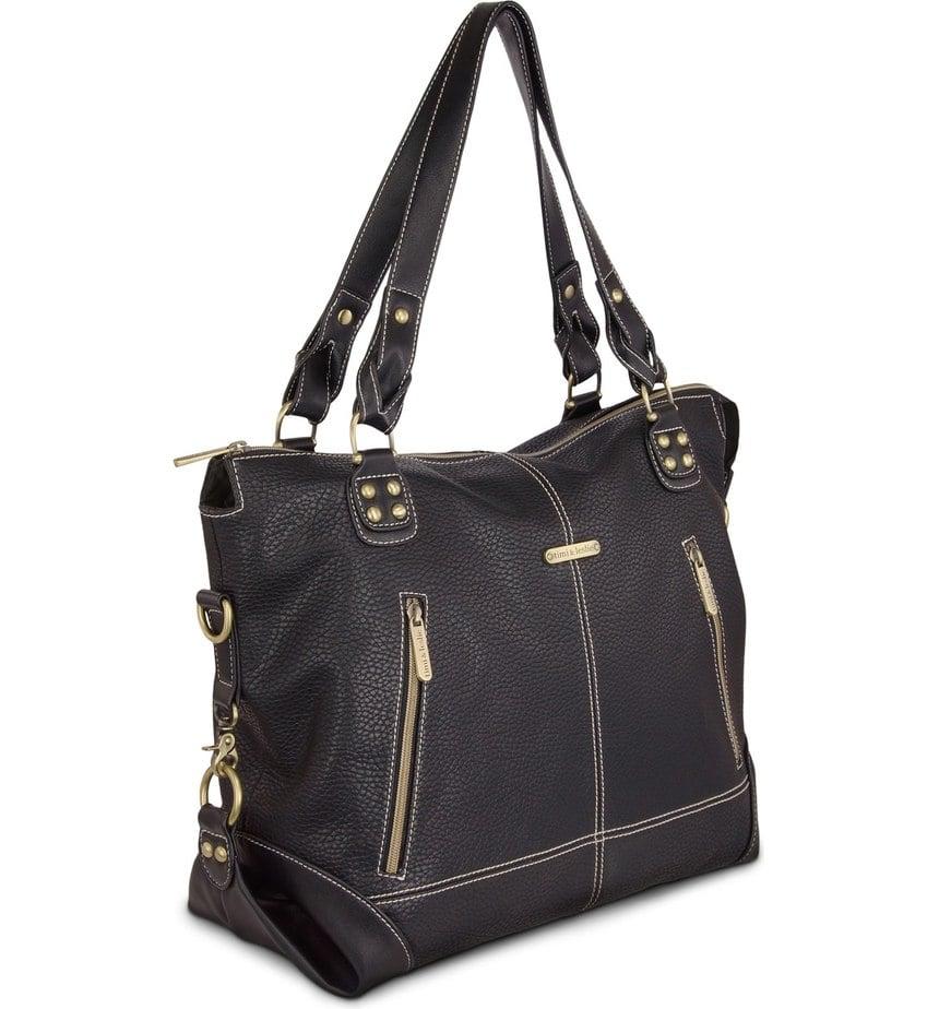 Timi & Leslie Infant 'Kate' Faux Leather Diaper Bag