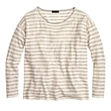J.Crew Collection Featherweight Cashmere Long-Sleeve Tee in Stripe ($228)
