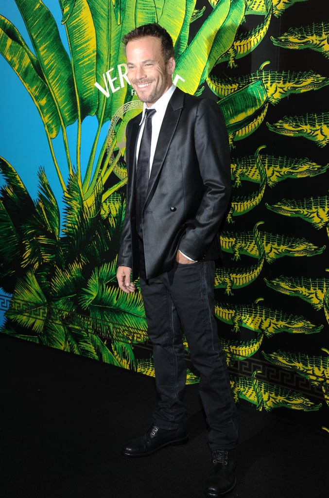 Stephen Dorff was looking handsome as ever for a Versace fashion show.