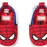 Red Marvel Spider Face Print Tiny Toms for Babies