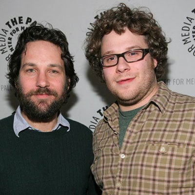 Seth Rogan and Paul Rudd at the Paley Television Festival