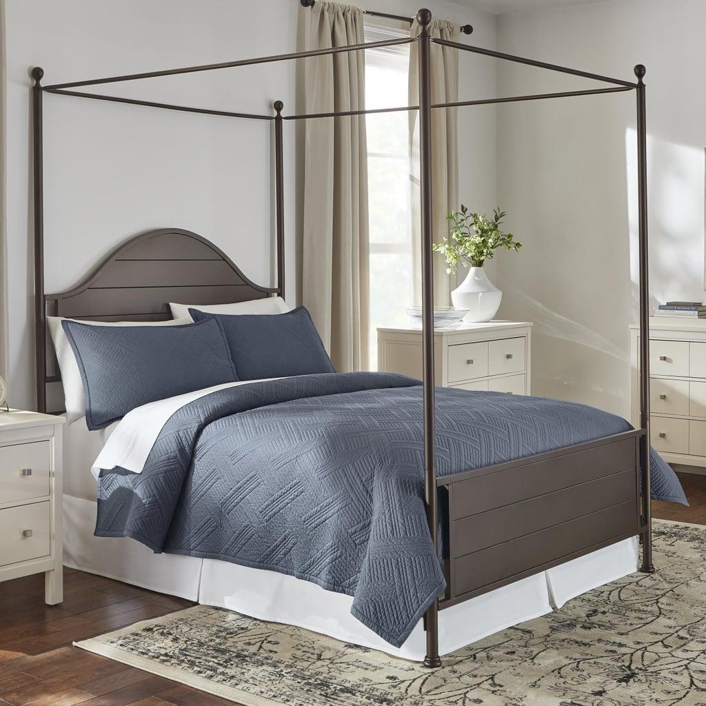 Home Decorators Collection Binghamton 3-Piece Steel Blue Solid Cotton King