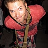 Kellan Lutz got playful with the cameras.