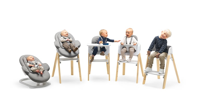 Stokke Steps Three in e Bouncer High Chair