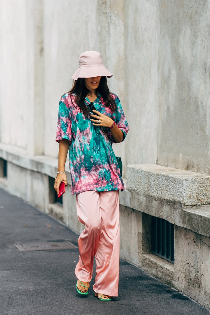 Channel tourist-chic with a vacation-inspired button-down in a bold print, and pair it with a sunhat.