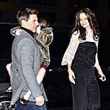 Katie Holmes admired Tom and Suri Cruise.