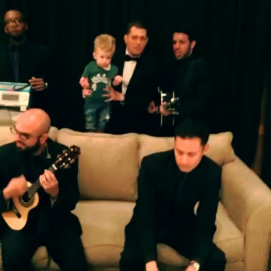 Michael Buble Sings NSYNC Song to His Son | Video