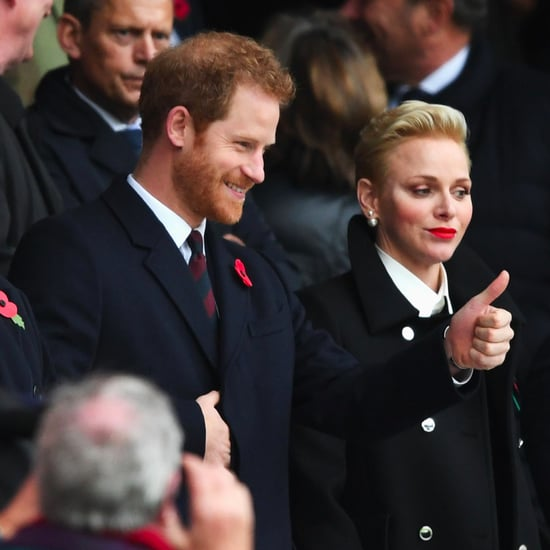 Prince Harry at a Rugby Match in London November 2016