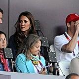 Prince William used his binoculars.
