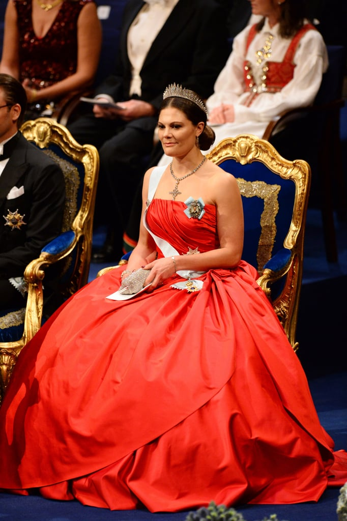 Victoria Knows How to Sit Pretty in a Ball Gown