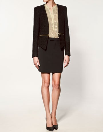 We love this ultra-chic, perfect for topping off a little red dress.