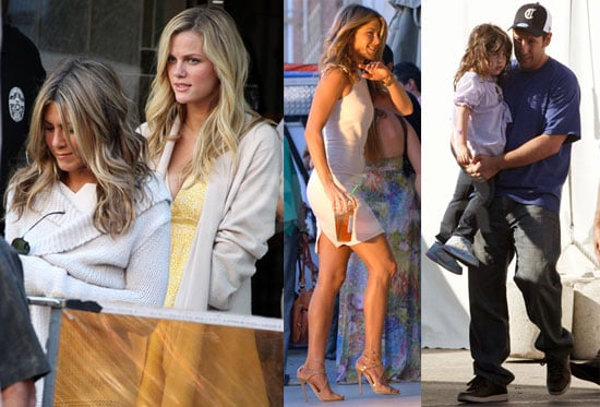 Photos of Jennifer Aniston, Adam Sandler, Sadie Sandler, Jackie