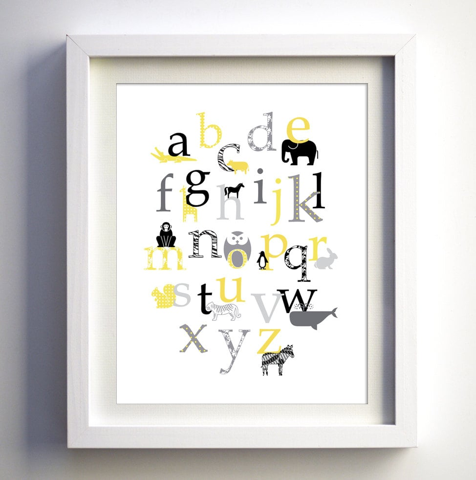 Retro Animal Alphabet Print ($16)