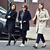 During a trip to New York, Princess Eugenie stepped out in a casual outfit that she finished with another pair of low-top Converse sneakers, this time in cream.
