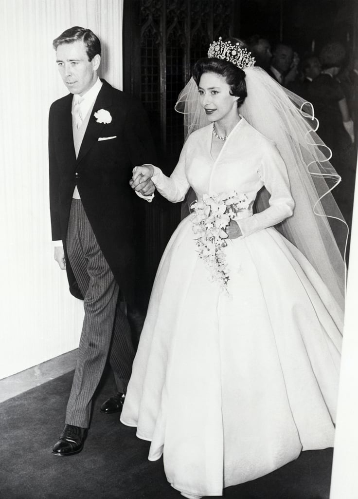 The real Princess Margaret is escorted by new husband Antony Armstrong-Jones.